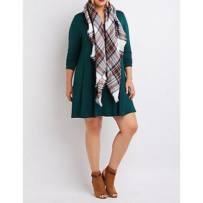 Plus Size Trapeze Shift Dress