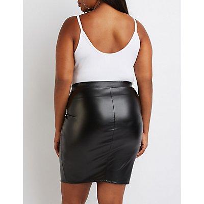 Plus Size Caged O- Ring Bodysuit