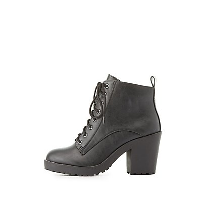 Lace-Up Combat Ankle Booties