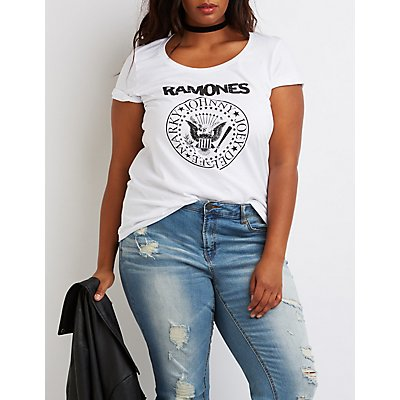 Plus Size Ramones Graphic Tee