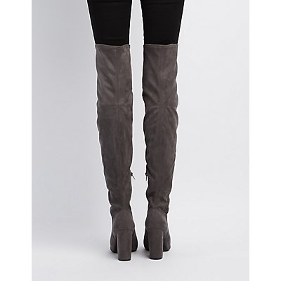 Peep Toe Thigh-High Boots | Charlotte Russe