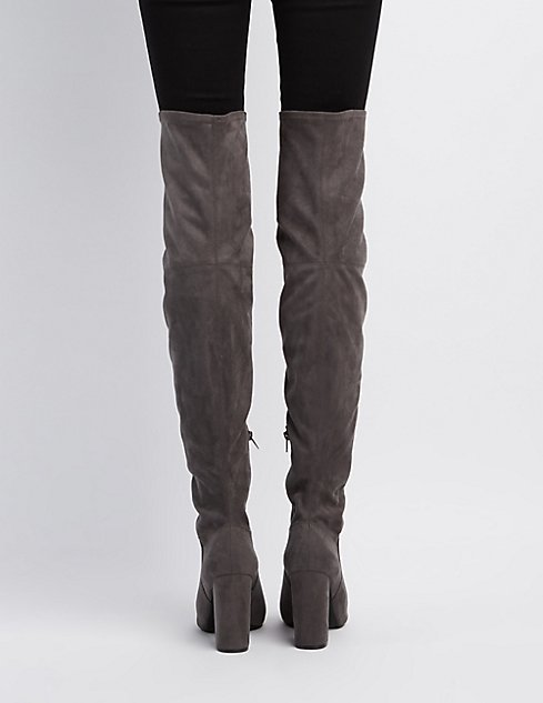 Peep Toe Thigh-High Boots   Charlotte Russe