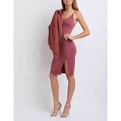 Bodycon Slit Midi Dress