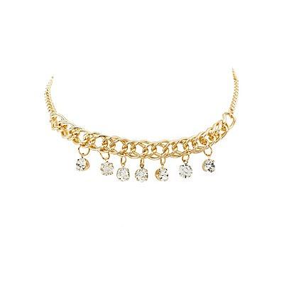 Embellished Chainlink Choker Necklace