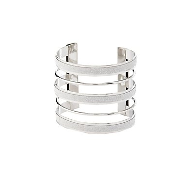 Glittery Caged Cuff Bracelet