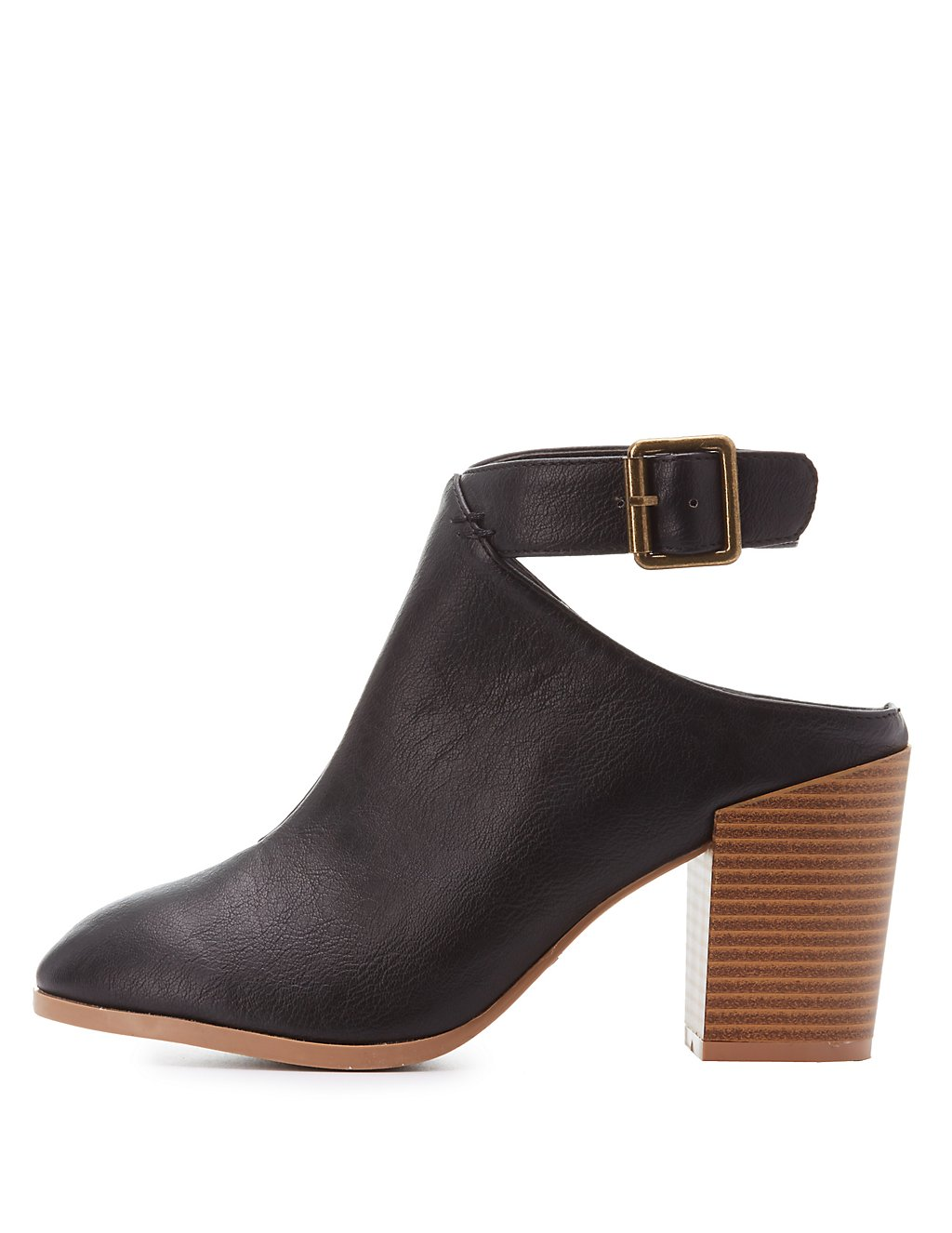 Sandals shoes sale - Qupid Buckled Cut Out Heel Booties