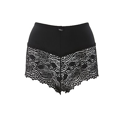 Plus Size High-Rise Cheeky Panties