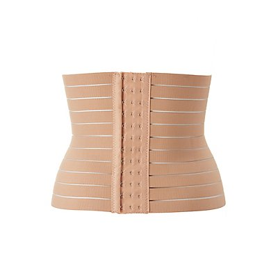 Plus Size Shadow Stripe Waist Cincher