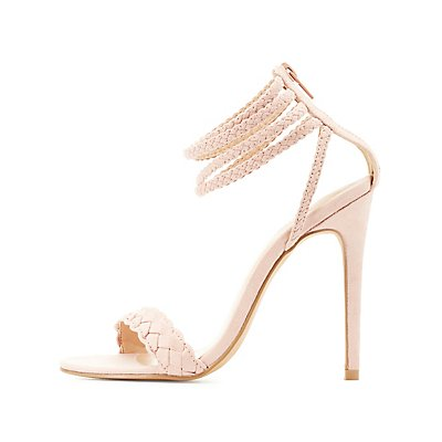 Strappy Braided Dress Sandals