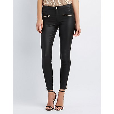 Refuge Skinny Faux Leather Jeans