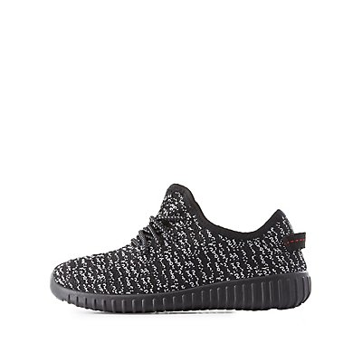 Two-Tone Woven Sneakers