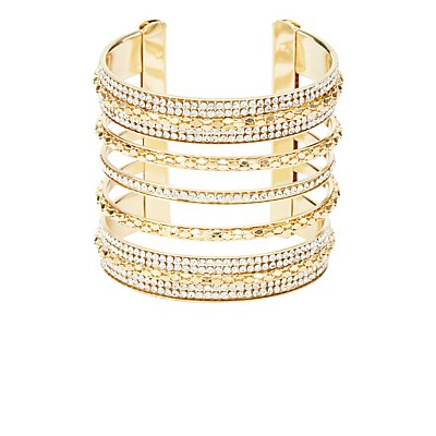 Embellished Caged Cuff Bracelet