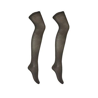 Ruffled Over-The-Knee Socks