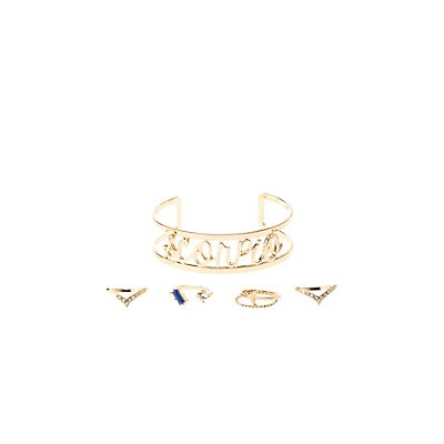 """Scorpio"" Astrology Cuff Bracelet & Rings Set"