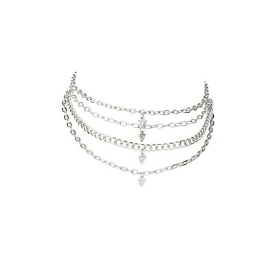 Layered Chainlink Choker Necklace