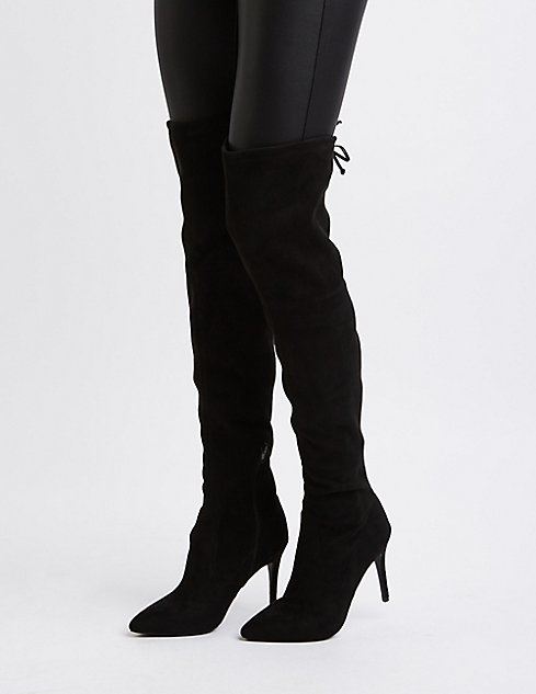 Pointed Toe Over-the-Knee Boots | Charlotte Russe