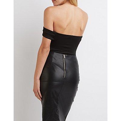 Banded Off-The-Shoulder Bodysuit