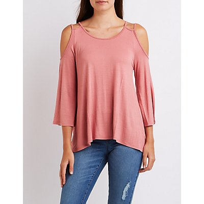 Strappy Cold Shoulder Tee