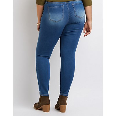 Plus Size Medium Wash Skinny Jeans