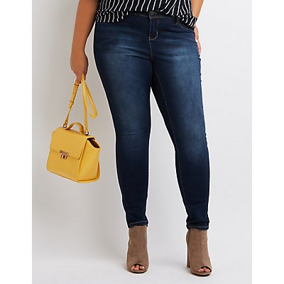 Plus Size Dark Wash Skinny Jeans | Charlotte Russe