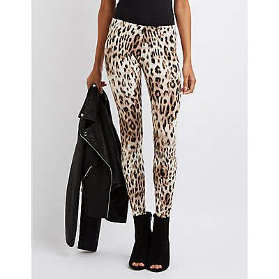 Leopard Stretch Cotton Leggings