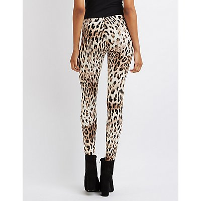 Leopard Stretch Cotton Leggings