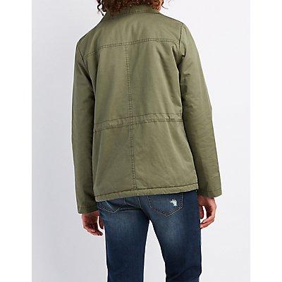 Sherpa Lined Anorak Jacket