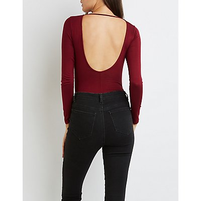 Cut-Out Open Back Bodysuit