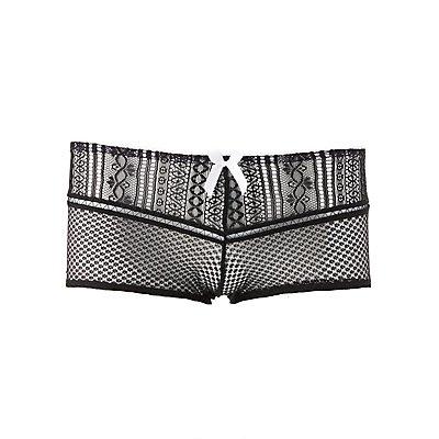 Plus Size Sheer Mesh Lace Cheeky Panties