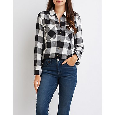 Buffalo Check Button-Up Shirt