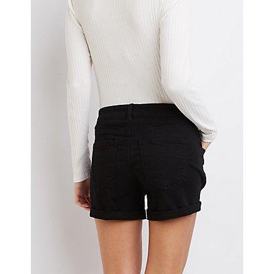 """Refuge """"Girlfriend"""" Cuffed Denim Shorts"""