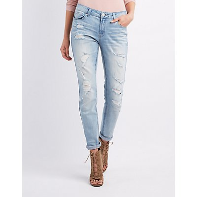 Ripped Jeans &amp Distressed Denim | Charlotte Russe