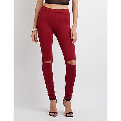 Slit Knee Ponte Leggings