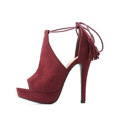 Tassel Platform Dress Sandals