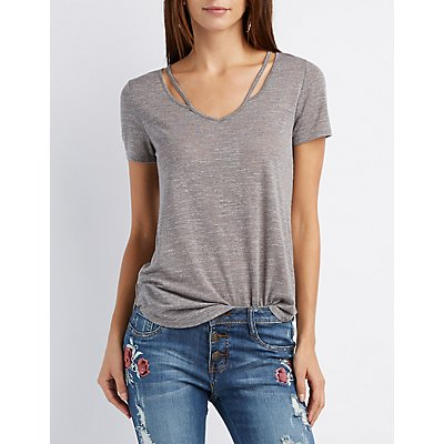 Strappy Cut-Out Swing Tee