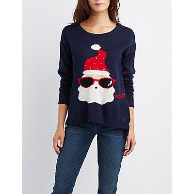 """""""HoHoHo"""" Santa Claus Holiday Sweater"""