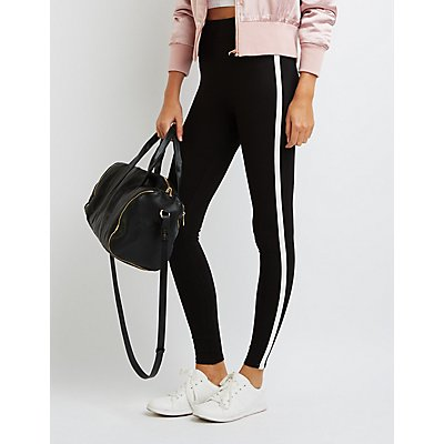 Piped High-Rise Ponte Leggings