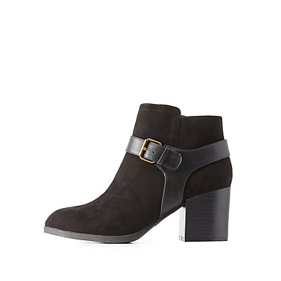 Qupid Harness Strap Ankle Booties
