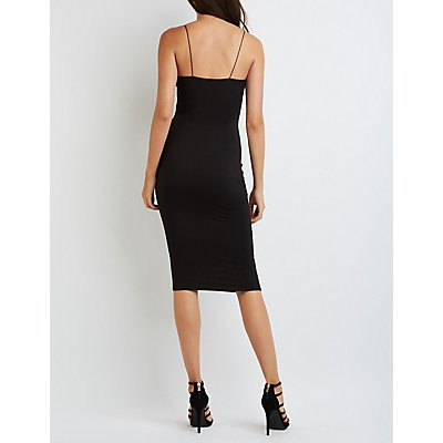 Bodycon Midi Slip Dress