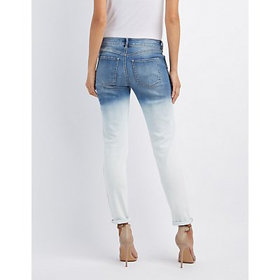 Refuge Ombre Boyfriend Destroyed Jeans
