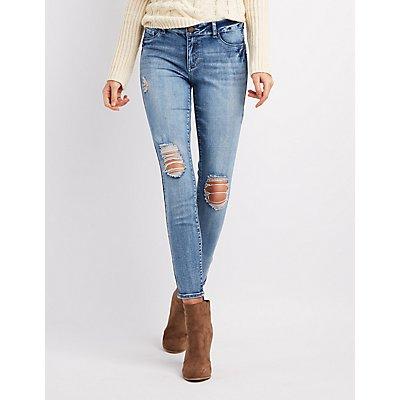 Refuge Push Up Legging Lifting Destroyed Skinny Jeans