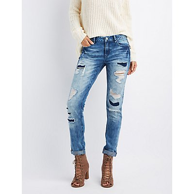 "Refuge ""Boyfriend"" Destroyed Jeans"