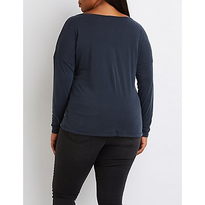 Plus Size Drop Shoulder Top