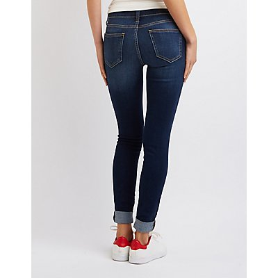 Cello Skinny Destroyed Boyfriend Jeans