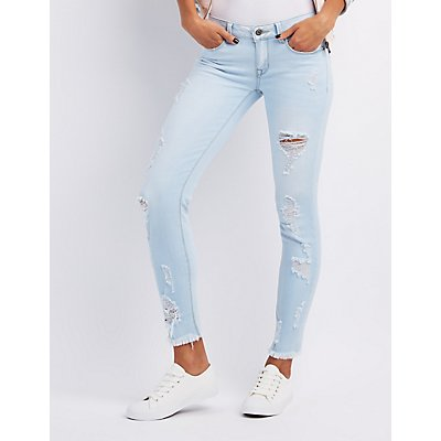 Sneak Peek Destroyed Skinny Jeans