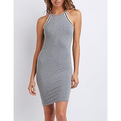 Varsity Stripe Racerback Bodycon Dress