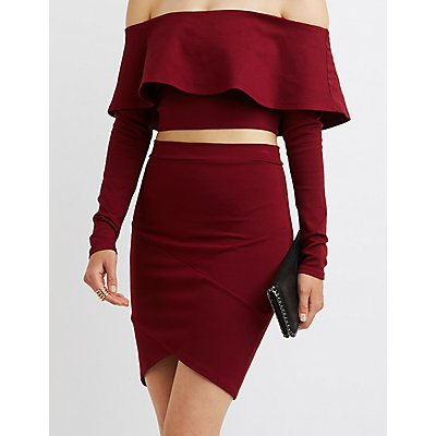 High-Low Bandage Skirt