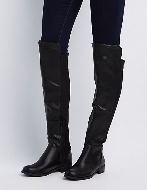 Gored Over-The-Knee Riding Boots | Charlotte Russe
