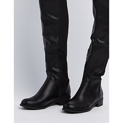 Gored Over-The-Knee Riding Boots