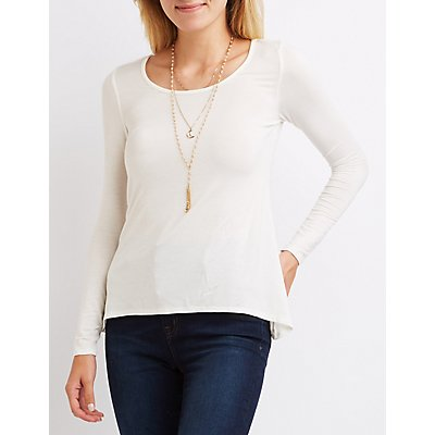 Scoop Neck High-Low Tee